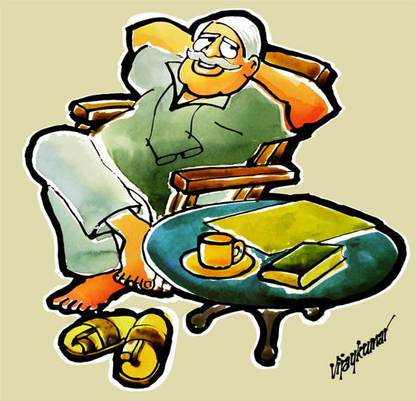 Leisure, an illustration by Vijaykumar Kakade