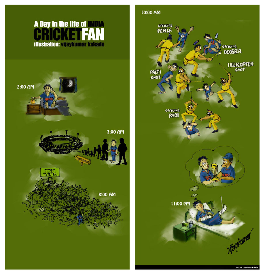 India Cricket Fan, a comic strip by Vijaykumar Kakade