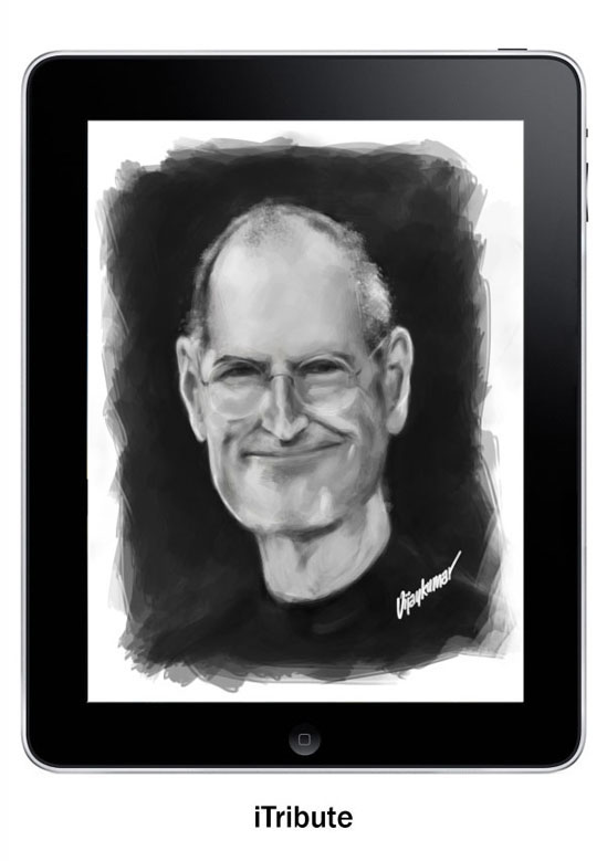 A tribute to Steve Jobs, illustrated by Vijaykumar Kakade