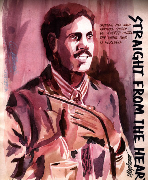 Kapil Dev, illustrated by Vijaykumar Kakade