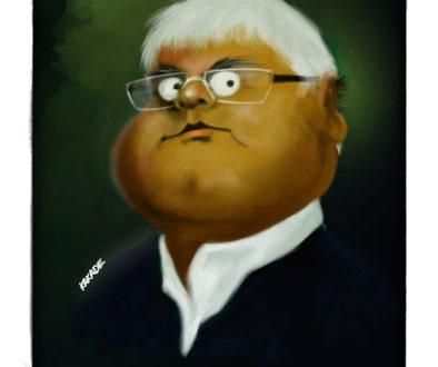Lalu Yadav, a caricature by Vijaykumar Kakade