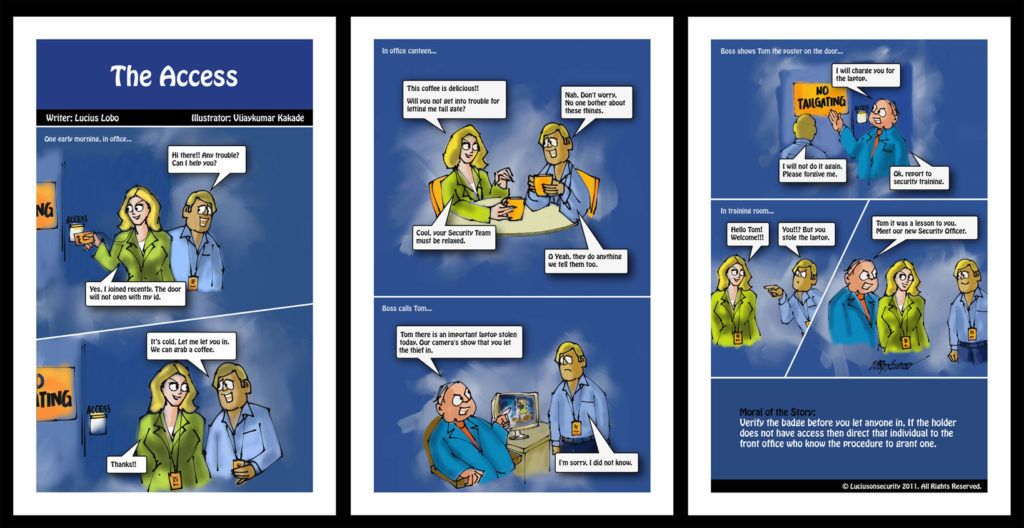 The Access, a comic strip on cyber security illustrated by Vijaykumar Kakade