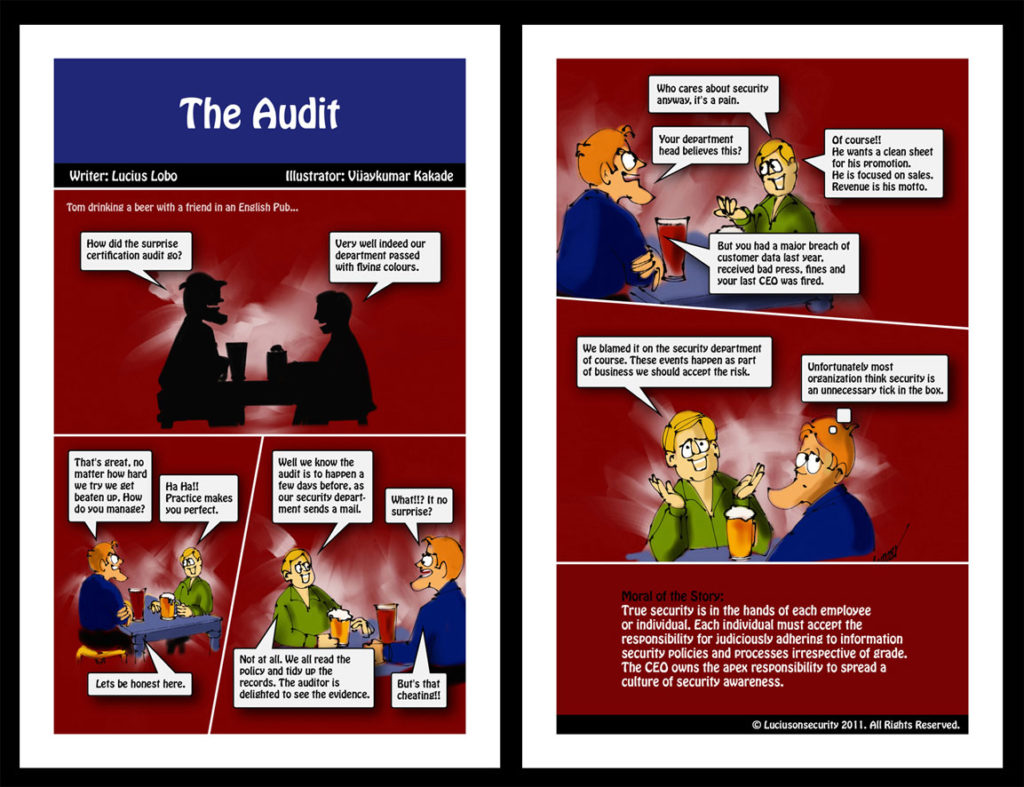 The Audit, a comic strip on cyber security illustrated by Vijaykumar Kakade