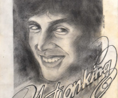 Akshay Kumar Actionking, a pencil portrait by Vijaykumar Kakade