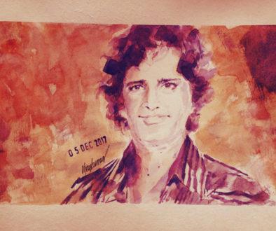 Shashi Kapoor, a portrait by Vijaykumar Kakade