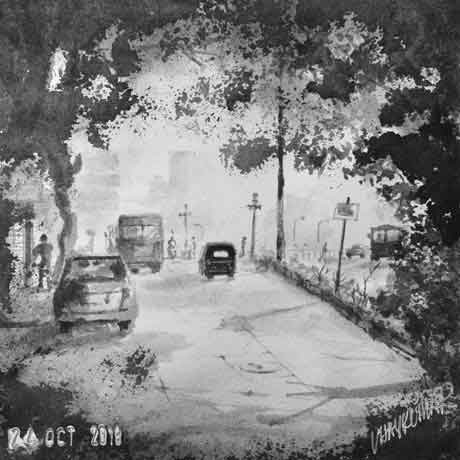 Good Morning, an ink painting for Inktober 2018 by Vijaykumar Kakade