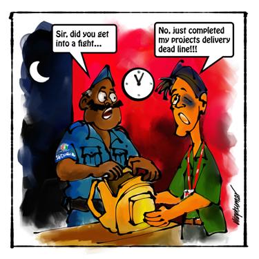 The Delivery, a pocket cartoon by Vijaykumar Kakade