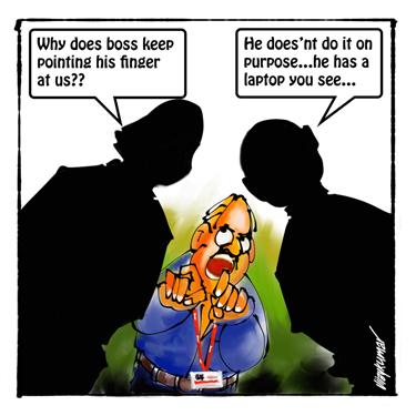 The Laptop, a pocket cartoon by Vijaykumar Kakade
