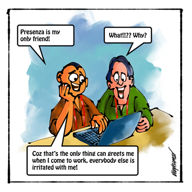 The Presenza, a pocket cartoon by Vijaykumar Kakade