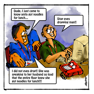 The Telephone, a pocket cartoon by Vijaykumar Kakade